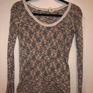 Free People Multi Colored light weight sweater